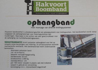 Montagevoorschriften geweven ophangband
